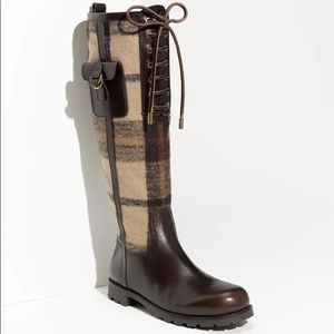 TORY BURCH | Plaid Flannel Leather Boot